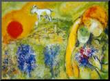 Amoureux de Vence Reproduction montée par Marc Chagall