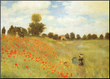 Les coquelicots, 1886  Reproduction montée par Claude Monet