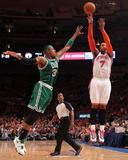 Boston Celtics v New York Knicks - Game Four  New York  NY - April 24: Carmelo Anthony and Paul Pie