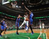 New York Knicks v Boston Celtics - Game Two  Boston  MA - April 19: Rajon Rondo  Amar'e Stoudemire