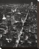 Vue sur Lower Manhattan la nuit Tableau sur toile par Christopher Bliss