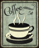 Retro Coffee I Reproduction d'art par N. Harbick