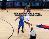 Orlando Magic v Atlanta Hawks - Game Three  Atlanta  GA - APRIL 22: Jamal Crawford and Jameer Nelso