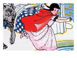 Little Red Riding Hood Chased By the Wolf