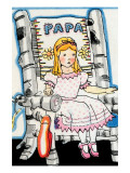 Goldilock Tries Papa Bear's Chair