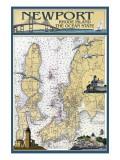 Newport  Rhode Island Nautical Chart