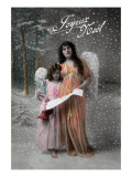 Joyeux Noel - Merry Christmas in French  Little Girl Carols with Angel