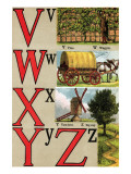 V  W  X  Y  Z Illustrated Letters