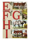 E  F  G  H  I Illustrated Letters