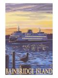 Bainbridge Island  WA - Ferry and Sunset