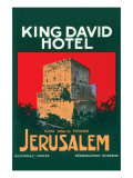 King David Hotel Luggage Label