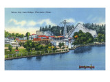Worcester  Massachusetts - Bridge View of White City