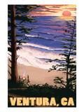 Ventura  California - Surfing Sunset
