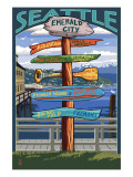 Seattle  Washington - Destination Signs