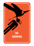 No Smoking Sign - Dinosaur Attack