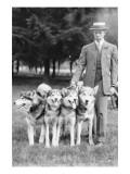 Four Eskimo Dogs at the Mineola Dog Show