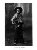 Cowgirl Portrait - Miss Rita Leggiero Holding a Knife
