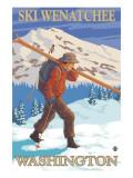 Skier Carrying - Wenatchee  WA