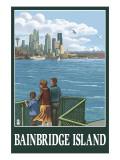 Bainbridge Island  WA - Ferry and Seattle