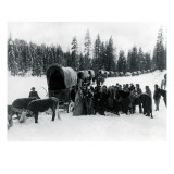 Wagon Party in Snow  1935