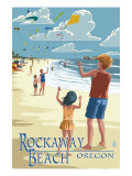 Rockaway Beach  Oregon - Kite Flyers