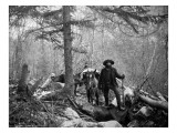 Gold Prospector Traveling For Supplies  Undated