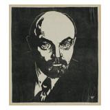 Block Print of Vladimir Lenin