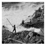 Dip Net Fishing at Celilo Falls  1954