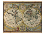 A New and Accurat Map of the World  1651