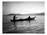 Two Native Americans with Canoe  Circa 1906
