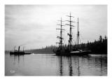Schooner in Bay  Circa 1912