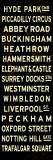 London Sign Reproduction d'art