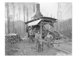 Donkey Engine at West Fork Logging Company  1920