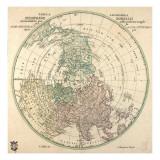 Tubula Geographica  Hemisphaerii Borealis  1762