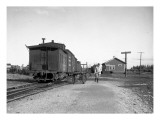 Railway Train  Ellensburg  WA Station  1911