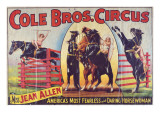"""""""Cole Bros Circus: Miss Jean Allen  America's Most Fearless and Daring Horsewoman""""  Circa 1940"""