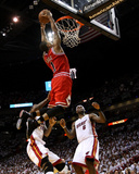 Chicago Bulls v Miami Heat - Game Four  Miami  FL - MAY 24: Derrick Rose  LeBron James and Udonis H