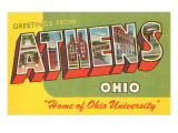 Greetings from Athens  Ohio