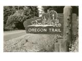 Sign Marking Oregon Trail  Near Columbia River