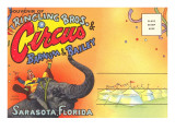Postcard Folder  Ringling Brothers Circus