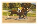 Race Horses  Saratoga Springs  New York