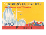 Souvenir Ticket to New York World's Fair  1940