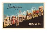 Greetings from Binghampton  New York