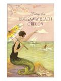 Mermaid Waving from Rockaway Beach  Oregon