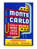 Advertisement for Monte Carlo Club  Las Vegas  Nevada