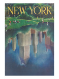 Travel Poster  Central Park  New York City