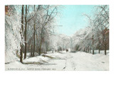 Winter Scene  Gloversville  New York