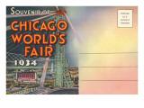 Postcard Folder  Souvenir of Chicago World's Fair