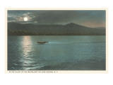 Moonlight on Lake George  New York