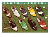 Golf Shoes on Putting Green  Bandon  Oregon